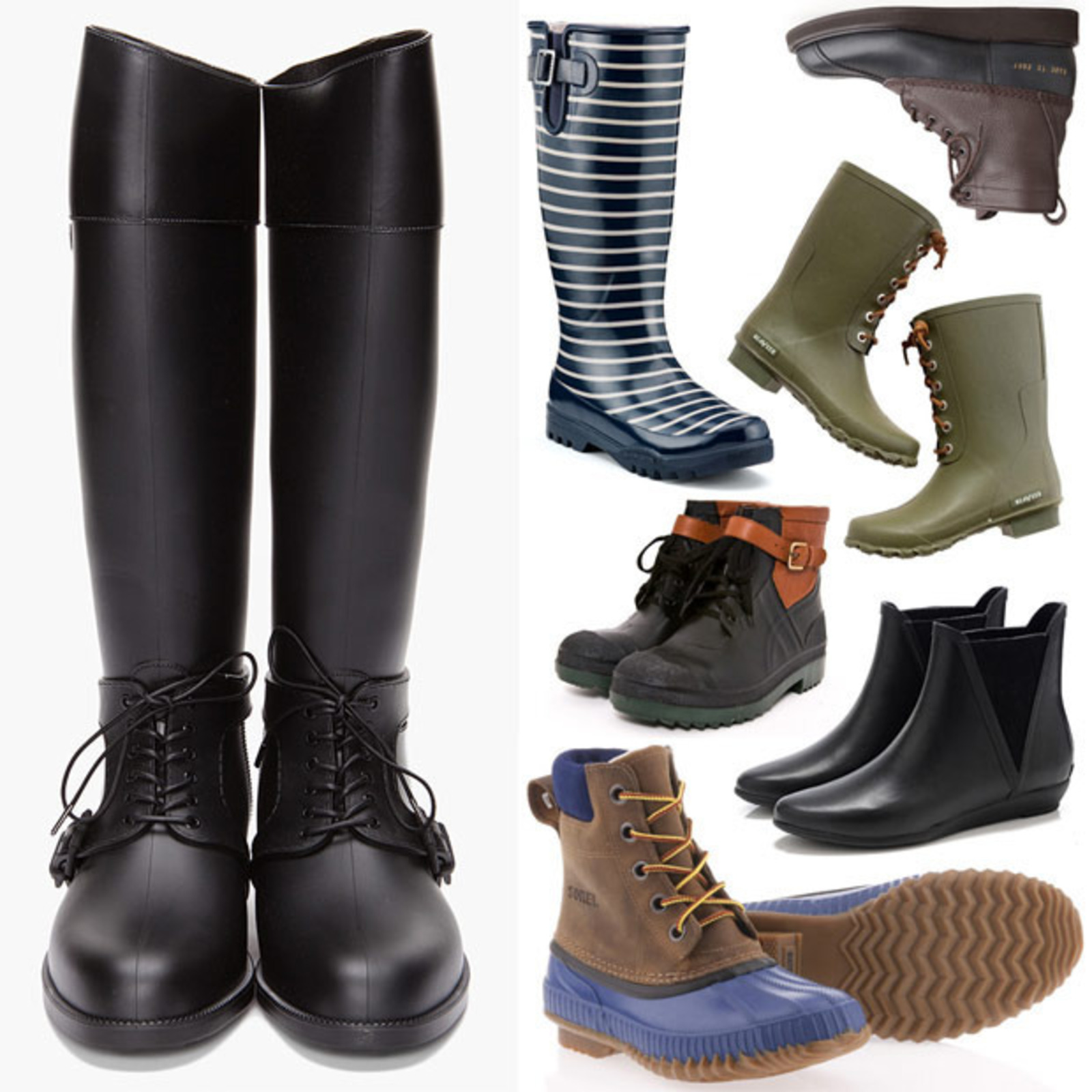 Twelve Pairs of Ladies' Rain Boots - Cool Hunting