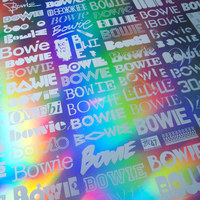 The Changing Faces of Bowie Print