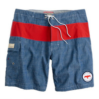 Apolis + J. Crew Chambray Swim Trunks
