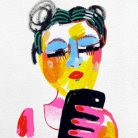 Jon Burgerman's Drawings of Girls I've Seen on Tumblr