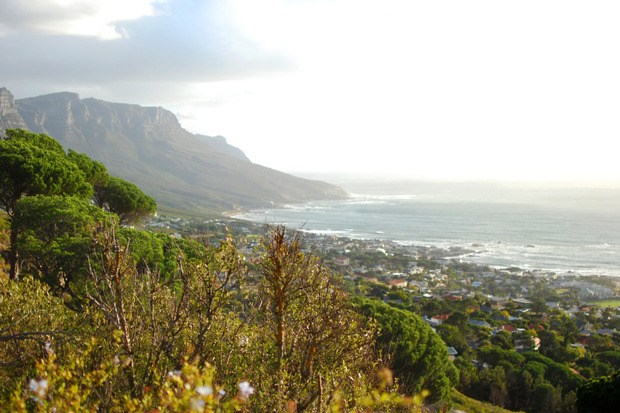 Lion's Head Mountain - Bird's eye view of Cape Town  full width cape town lions head 1