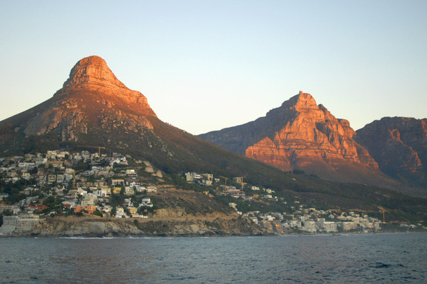Lion's Head Mountain - Bird's eye view of Cape Town  full width cape town lions head 2