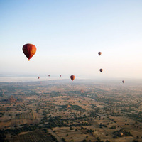 Hot Air Ballooning in Myanmar