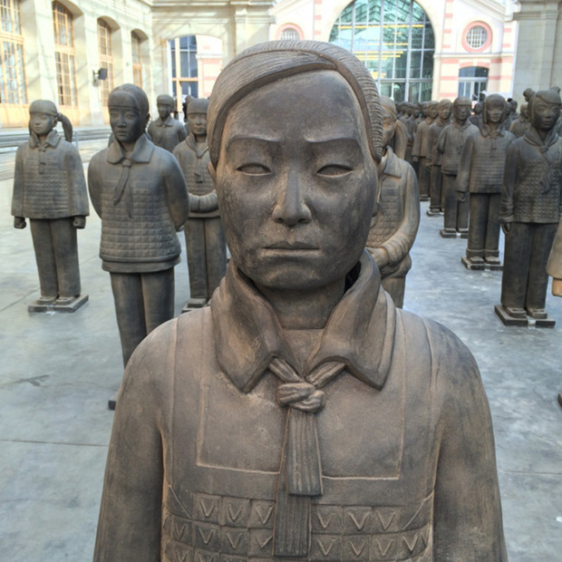 Avec Motifs Apparents: Terracotta Daughters: An in situ installation that blends ancient discovery with contemporary gender issues