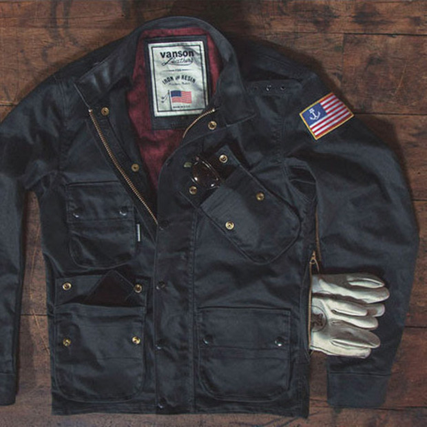 Iron & Resin + Vanson Leathers Mojave Jacket: A waxed canvas motorcycle jacket just in time for spring riding season