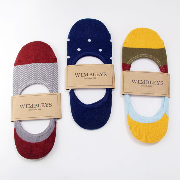 Wimbleys No-Show Socks: Boldly patterned socks that promise to stay put, just in time for summer