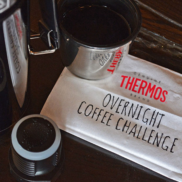 Thermos Brand's Overnight Coffee Challenge