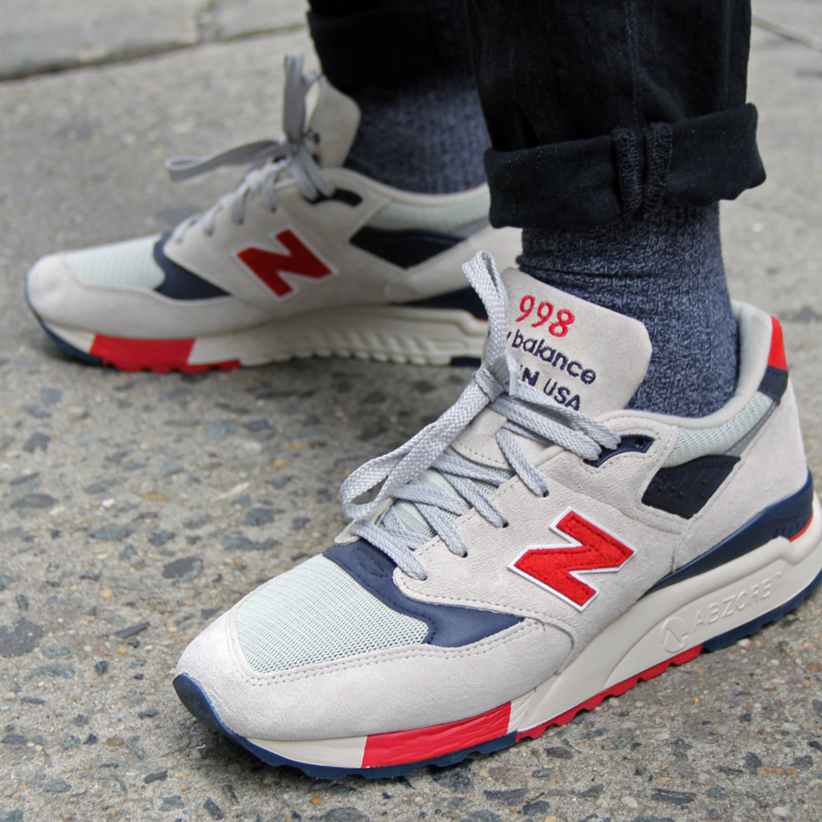 new balance 998 grey red