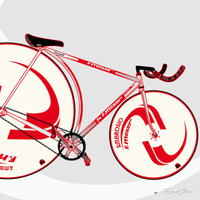 David Flores + Division 1 Bicycles' Iconic Bike Prints