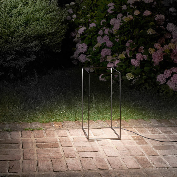 Ipnos Outdoor Light by Rossi Bianchi Studio: Use the unconventional rectangular prism structure as a lamp or even a table