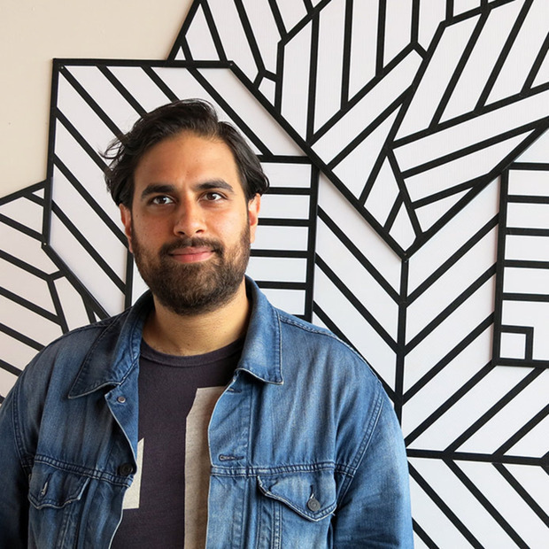 Studio Visit: Aakash Nihalani: A look inside the Brooklyn artist's studio, where two-dimensional shapes come alive through tape and a unique perspective