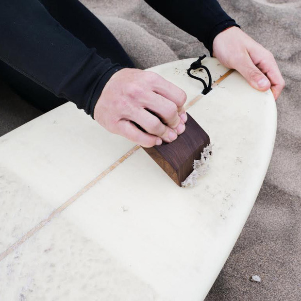 EAST Surf Co. Wax Tool: A functional and elegant surf accessory cut and crafted from American Walnut