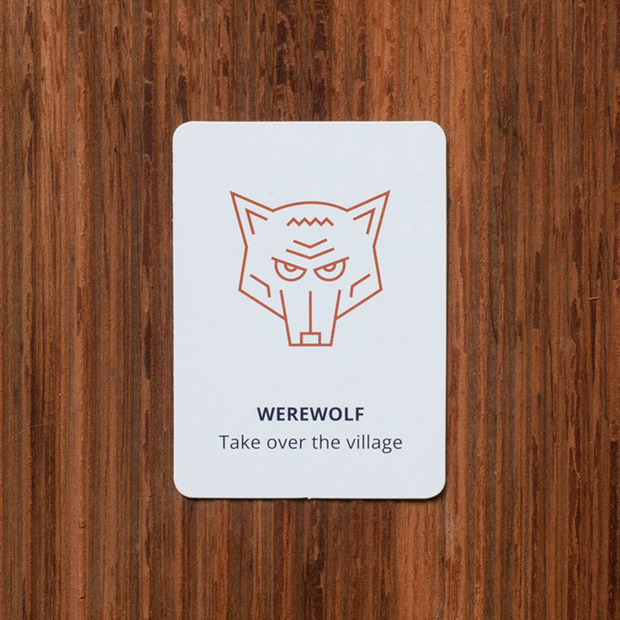 Werewolf Role-Play Game: Well-designed cards allow players to transition instantly into a world of accusations, persuasive speeches and fun