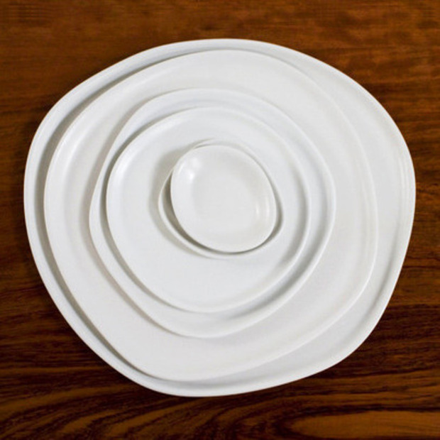 The Ripple Series from Haand Ceramics: Brighten up the table with naturally shaped, asymmetrical dishes, handmade in NC