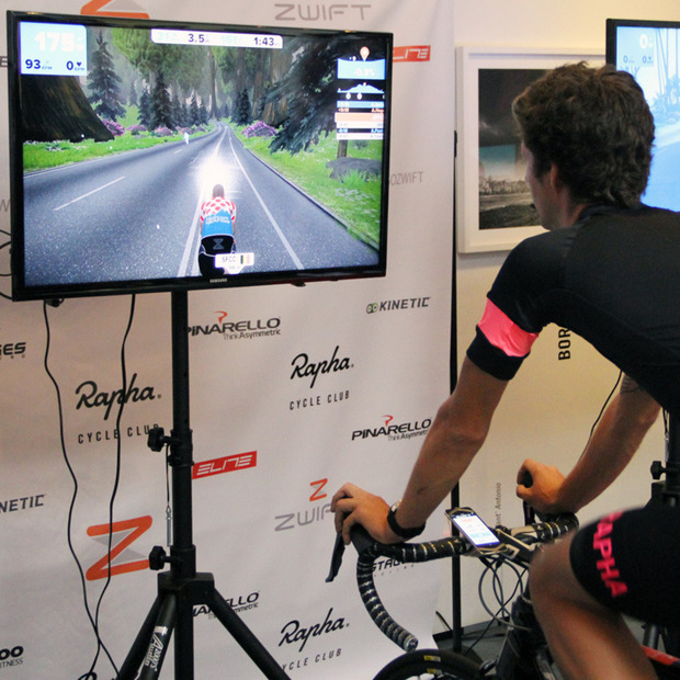 Indoor Cycling Meets Entertainment with Zwift: The global multiplayer environment integrates exercise with game play
