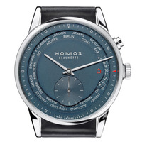 True Blue NOMOS Glashütte Zurich Worldtimer