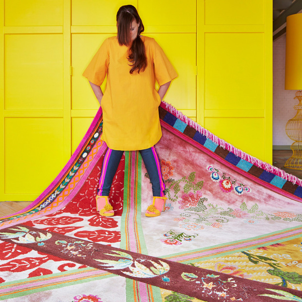 Dutch Designer Rugs from ICE International : The world's premier custom rug maker partners with designer couples for distinct, vibrant takes