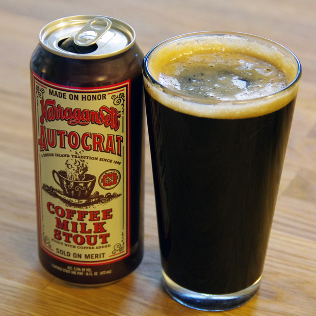 Narragansett Autocrat Coffee Milk Stout: Two Ocean State institutions team up for a seasonal, limited brew