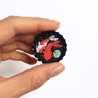 Baobap Miniature Embroidered Brooches