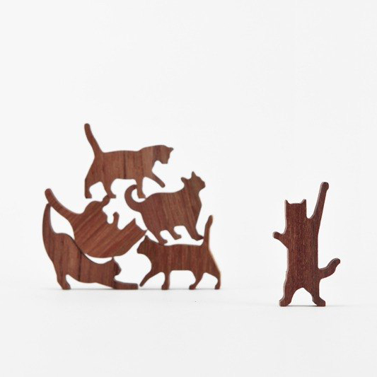 Stackable Wooden Cats Cool Hunting