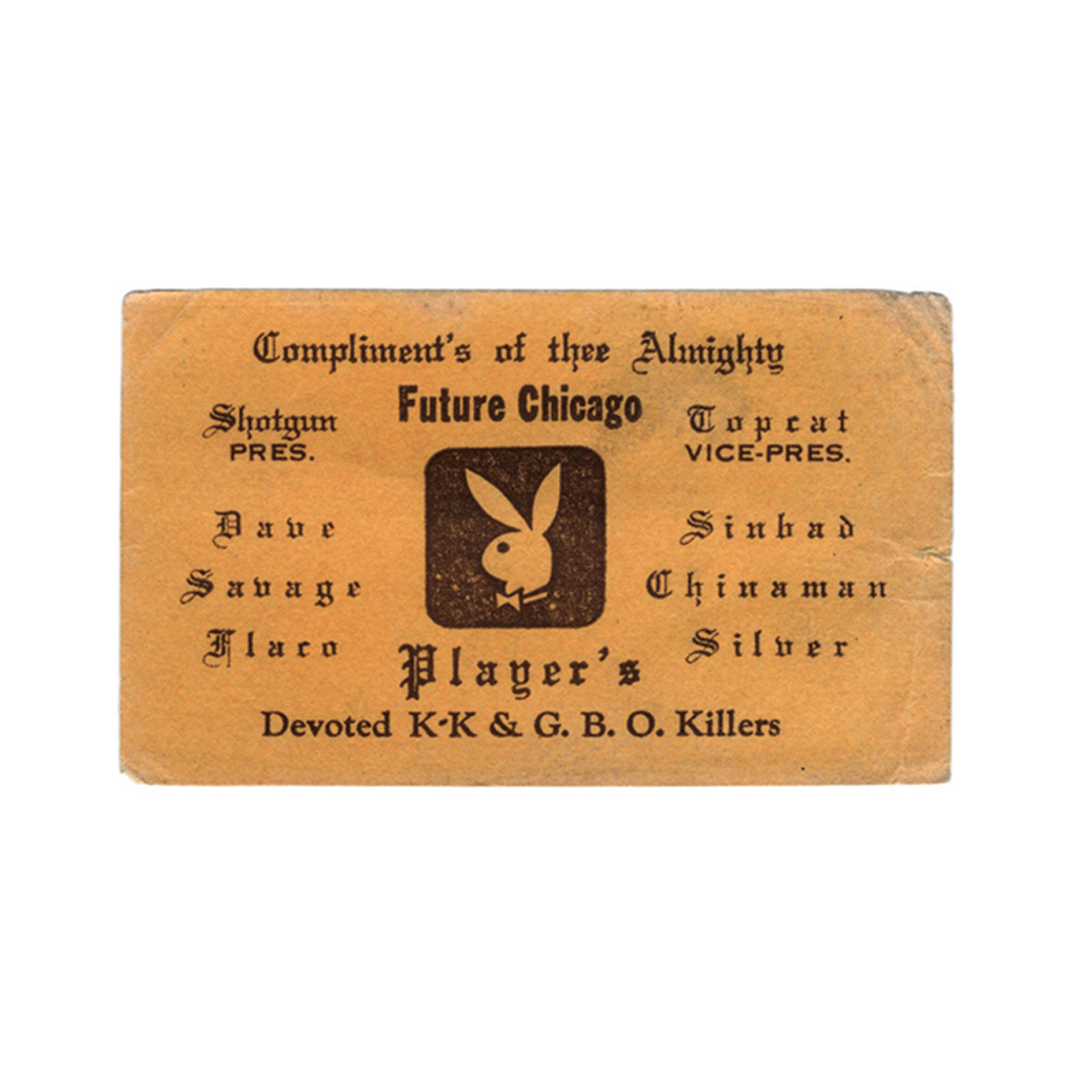 1970s Chicago Gangster Business Cards Cool Hunting