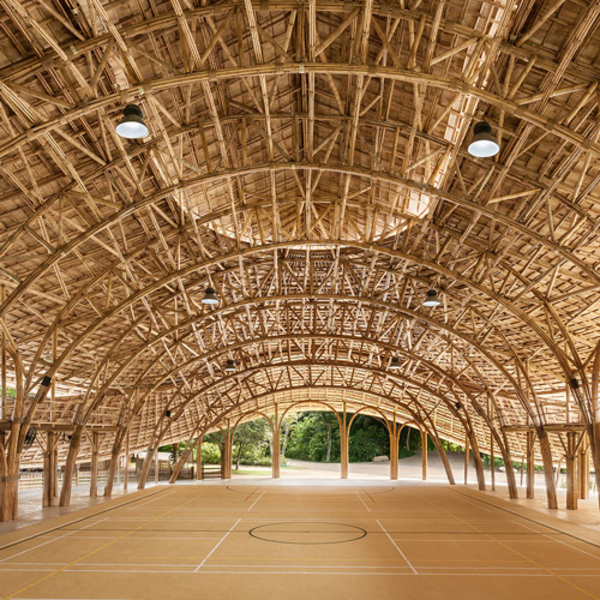 Thailands Bamboo Sports Hall