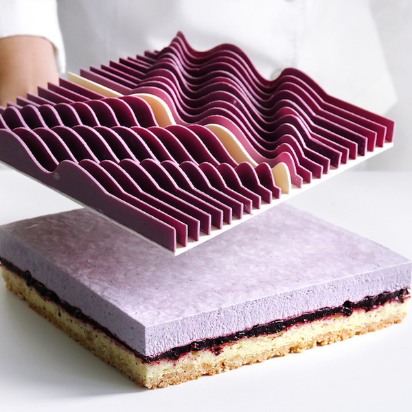 Topographic, Architectural Chocolate Tarts