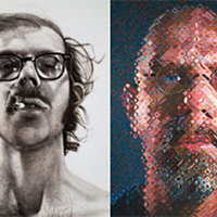 Chuck Close: Self-portraits 1967-2005 at the SFMOMA
