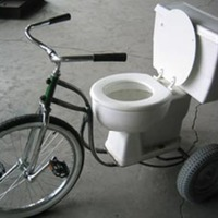 Toilet Tricycle Race