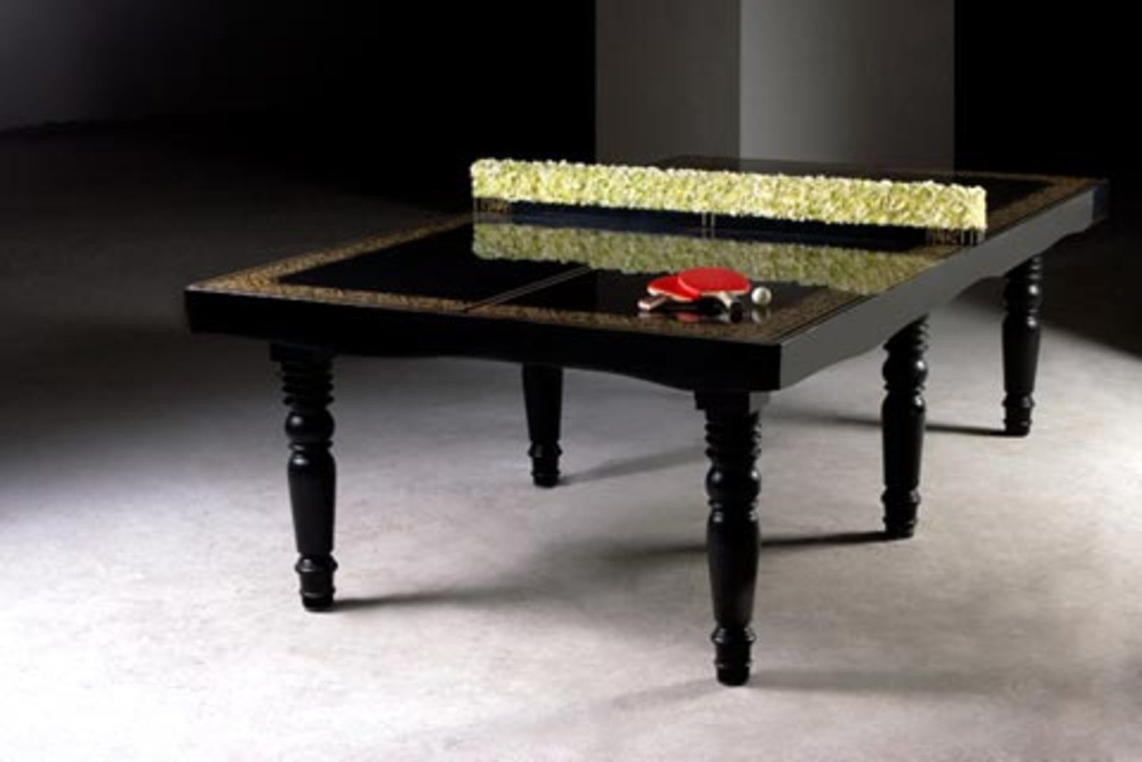 Hunn wai for mein studio gallery ping pong dining table for Table ping pong