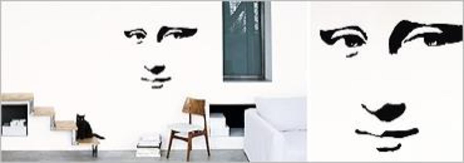 nouvelles images mona lisa wall sticker cool hunting