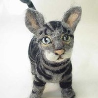 Felted Animal Sculptures by Amelia Santiago
