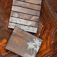 Twig and Fig Reclaimed Wood Invites