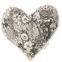 Rise and Fall Floral Love Pillow