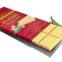 Trapa Swiss Rhubarb & Aloe Vera White Chocolate Bar