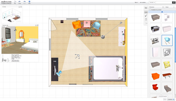 their 3d room planning tool enables you to build any room to scale either by scanning a floorplan or by selecting and modifying one of the templates they - Interactive Room Decorating