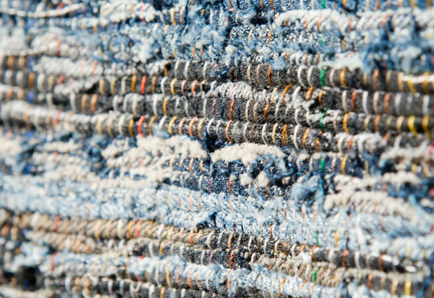 Nudie Jeans post-consumer denim rag rug