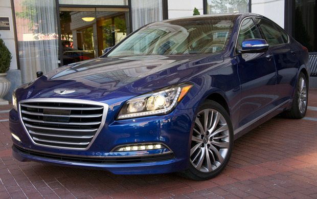 dealerships view no reasons look front s buck five for the parked car that to more hyundai than bang comes when luxury genesis offers sedan your is right perfect considering it further a