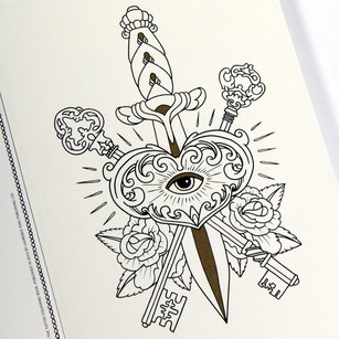 megamunden tattoo postcards 1ajpg - Tattoo Coloring Books