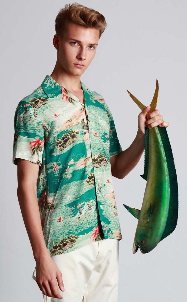 Hawaiian Clothing Designers Mark McNairy party shirt jpg