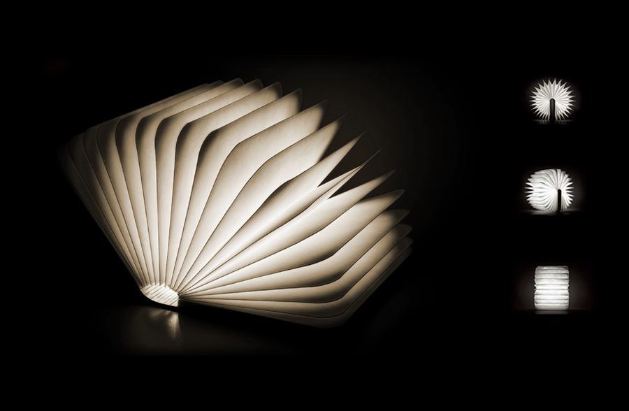 500 Lumens Of Light Hidden In The Pages Of This Book Shaped Lamp