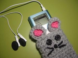 Grey Bunny Ipod Cozy