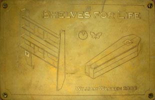 Shelvesforlifeplaque