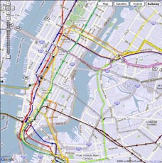 Nyc Subway Map With Street Overlay