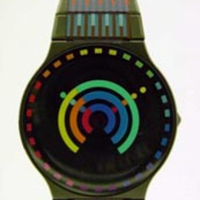 Yaacov Agam Kinetic Op-Art Watches for Movado