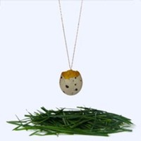Speckled Quail Egg Necklace