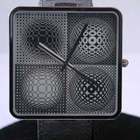 Victor Vasarely Op-Art Watch