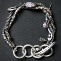 Iosselliani Silver Snake Bracelet