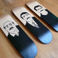 The Mustaches Skateboard Deck