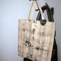 The Rise + Fall Woodgrain Tote Bag